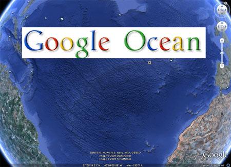 Google Ocean trên Google Earth thế hệ 5.