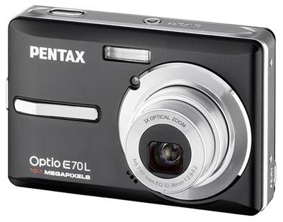 Pentax Optio E70L có vỏ màu đen, còn E70 có vỏ màu vàng. Ảnh: Letsgodigital.