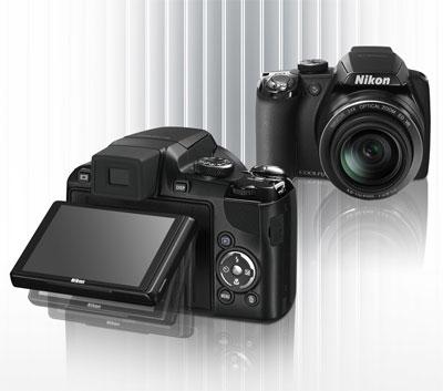 Nikon Coolpix P90 được trang bị ống kính zoom quang 24x và màn hình xoay.
