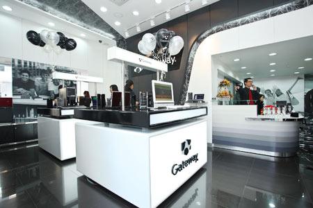 Showroom của Gateway có cả quầy bar.