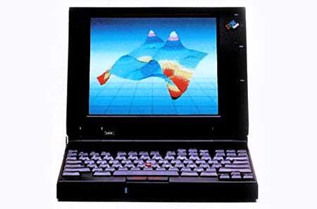 ThinkPad series 700 (1992), laptop có trackpad đầu tiên. Ảnh: Businessweek.