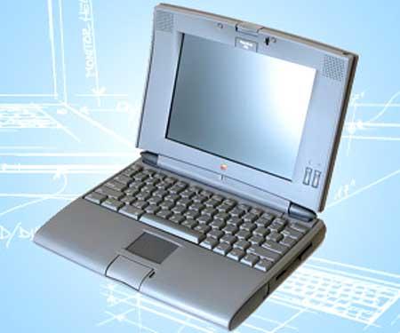 Apple PowerBook series 500 (1993) mẫu hoàn chỉnh của laptop hiện đại. Ảnh: Media.
