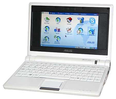 Asus Eee PC 701 (2007) là mẫu netbook đầu tiên. Ảnh: Geardiary.