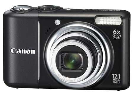Canon A2100 IS không có ống ngắm quang. Ảnh: iTechnews.
