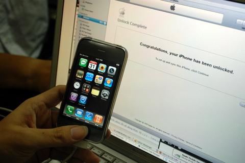 iPhone 3G mở mạng thành công như phiên bản quốc tế. Ảnh: Quốc Huy.