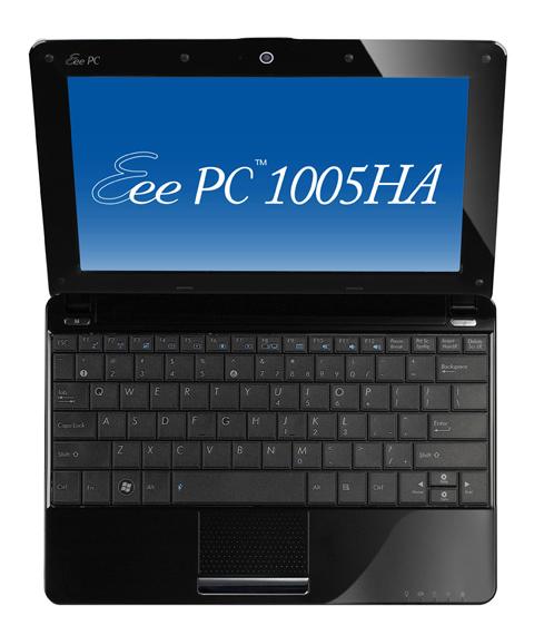 Eee PC 1005HA có thiết kế dày hơn chiếc Seashell đi trước. Ảnh: Cnet.