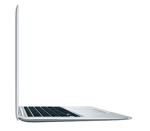 MacBook Air nơi mỏng nhất chỉ 0,4 cm. Ảnh: Apple.