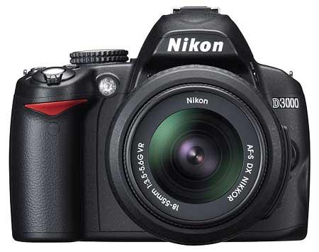 Nikon D3000 mới ra mắt. Ảnh: Imaging Resource.