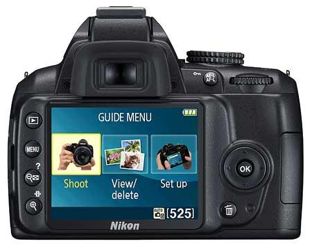 Màn hình 3.0 inch của D3000 sáng, rõ nét và menu người dùng trực quan. Ảnh: Imaging Resource.