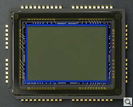 Cảm biến của D3000. Ảnh: Imaging Resource.