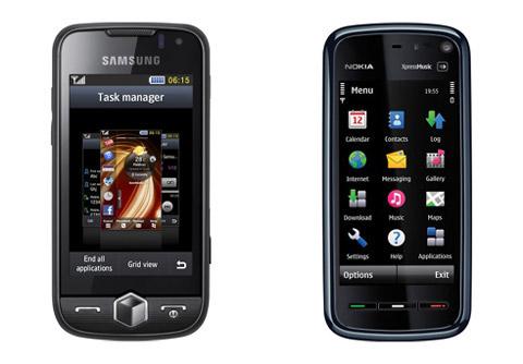 Samsung Jet và 5800 XpressMusic đều mạnh về giải trí.