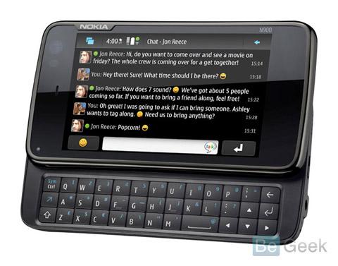 N900 chạy trên nền Maemo. Ảnh: BeGeek.