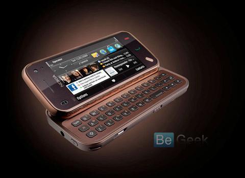 Nokia N97 Mini không có nút điều hướng trên bàn phím. Ảnh: BeGeek.