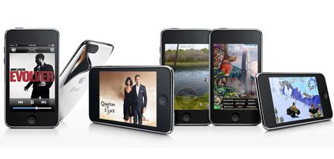 iPod Touch thế hệ ba cùng dòng máy chơi nhạc phiên bản 2009 chuẩn bị giới thiệu. Ảnh: Apple.
