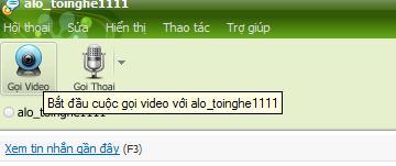 Để sử dụng, tại cửa sổ chat, người dùng click vào nút Gọi Video.