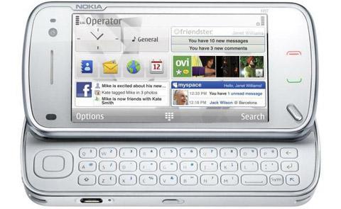 N97 cho phép đưa các widget ra ngoài. Ảnh: Nokia.