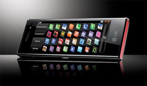 S-Class trên điện thoại LG với các icon bố trí giống iPhone. Ảnh: LG.