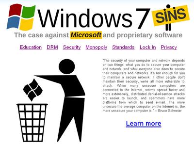 FSF kêu gọi người sử dụng quay lưng lại với Windows 7.