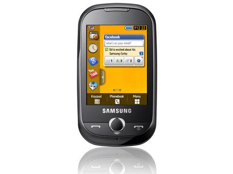 Corby với màn hình cảm ứng 2.8 inch. Ảnh: Samsung.