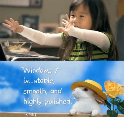 Xem video quảng cáo Windows 7.