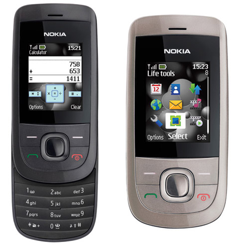 Nokia 2220 Slide sở hữu thiết kế trượt.