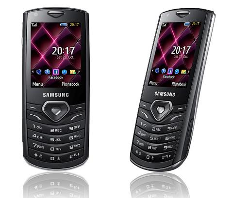 Samsung S5350 Shark với thiết kế mỏng.