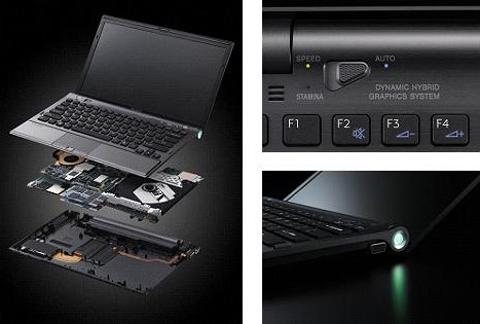 Thế hệ Vaio Z mới với nhiều nâng cấp về phần cứng đáng kể. Ảnh: Sony.