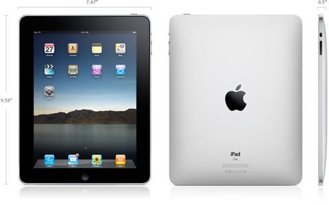 iPad có thiết kế mỏng, nhẹ. Ảnh: Apple.