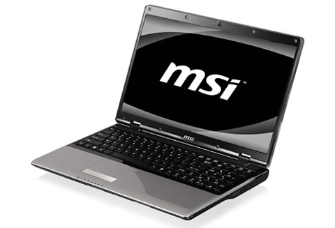 Model CR720 của MSI. Ảnh: Notebookcheck.