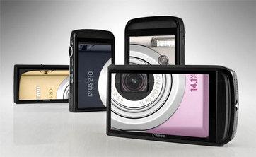 Canon Ixus 210 có màn hình cảm ứng 3,5 inch. Ảnh: Dpreview.