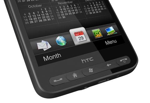 HD2 không có phím bấm chuẩn của Windows Phone.