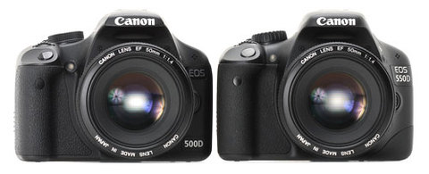 Canon EOS 550D bên cạnh