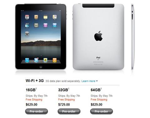 Phiên bản iPad 3G.