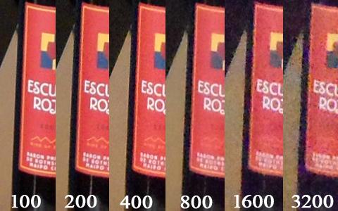 Hình ảnh chụp từ PL150 ở các mức ISO khác nhau với độ phóng đại 100%. Ảnh: Tuấn Hưng.