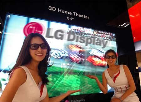 TV 3D 84 inch của LG.