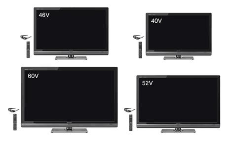 Dòng TV 3D đầu tiên của Sharp sử dụng công nghệ Quattron. Ảnh: Sharp.