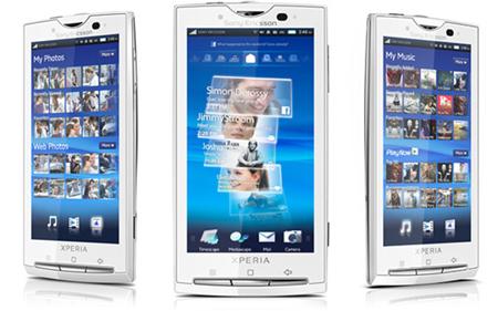 Xperia X10, smartphone cao cấp sử dụng chip đơn nhân tốc độ 1 GHz.