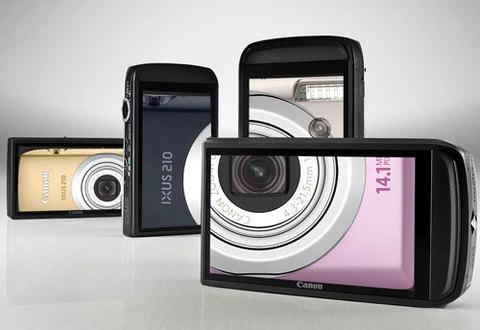 Canon IXUS 210 IS có màn hình cảm ứng 3 inch. Ảnh: Cameras.