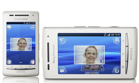 Xperia X8 chạy Android.