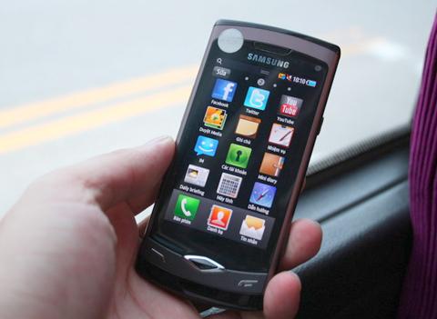 Wave S8500 là chiếc Android đầu tiên chạy Bada. Ảnh: Quốc Huy.