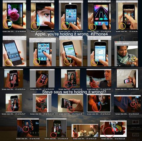 Bức ảnh tổng hợp các cách dùng bị cho là lỗi trong video quảng cáo của Apple. Ảnh: Reddit.