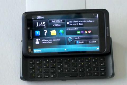 Thiết bị được cho là N9 chạy Symbian^3.