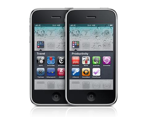 iPhone 3GS 8GB chạy iOS4 với nhiều tính năng mới.