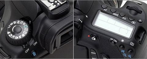 Mặt trên của Canon EOS 60D. Ảnh: Dpreview.