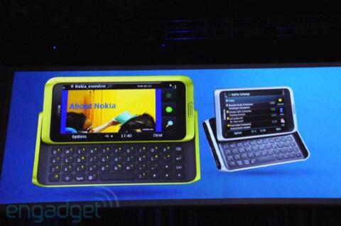 Nokia E7. Ảnh: Engadget.