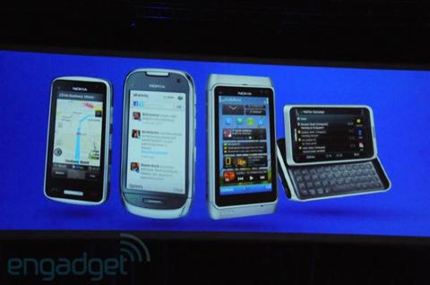 Nokia C7 và C6 được Nokia ra mắt tại Nokia World. Ảnh: Engadget.