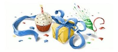 Logo mừng sinh nhật của Google.