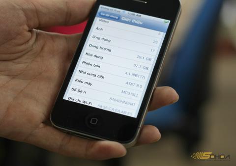 Một bản iPhone 4 chạy iOS 4.1 của AT&T chưa gọi điện được. Ảnh: Quốc Huy.