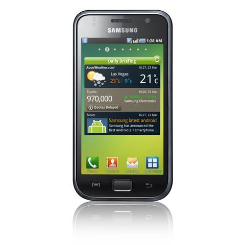 Galaxy S với công nghệ Super AMOLED.