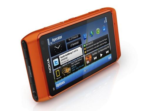 N8 với màn hình tươi sắc.